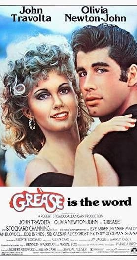 """Grease. Fabulous movie musical even though it's obvious most of the """"seniors"""" in the high school are actually in their late 20s or even 30s."""