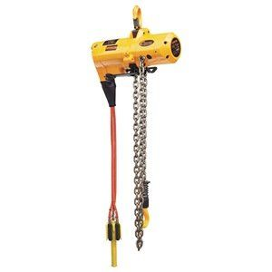 Air Chain Hoist, Cap500Lb, Lift15Ft by Harrington. $5598.45. Air Chain Hoist, TCS Series, Unlimited Duty Cycle, Capacity (Lb.) 500, Lift (Ft.) 15, Lift Speed (FPM) 60, Min. Between Hooks (In.) 16-1/3, Number of Parts of Chain 1, Self Adjusting Brake, Housing Length (In.) 14.4, Housing Width (In.) 8.7, Overall Length (In.) 14.4, Overall Width (In.) 8.7, Inlet Size 1/2 In. NPT, Air Pressure (PSI) 90, Air Consumption (SCFM) 60, Pendant Control, Hook Suspension, Noise Leve...