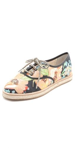 @Loeffler Randall 'Odile' floral espadrille tennis shoes gives this style a updated look $195, get it here: http://rstyle.me/~nQUC