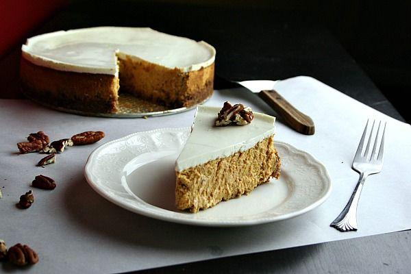 Pumpkin Cheesecake Day, check out this Bourbon Pumpkin Cheesecake ...