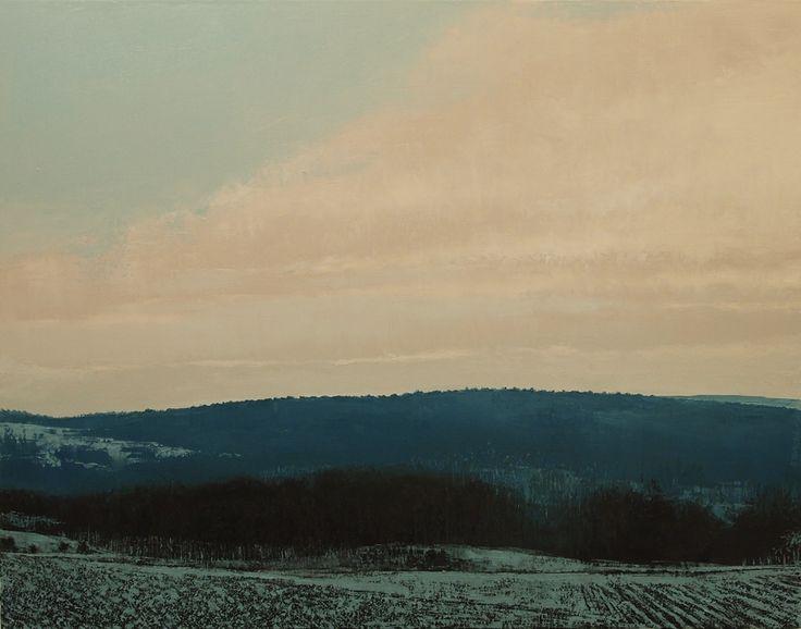 """""""Hiver V"""" by Benoit Trimborn - Regards sur le Paysage - oil on canvas, 2013"""