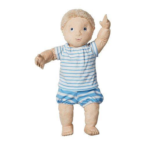 IKEA - LEKKAMRAT, Poupée, , Favorise les jeux de rôle qui permettent aux enfants de développer leur sociabilité en imitant les adultes et en inventant leurs propres rôles.Grâce à ses jambes pliables, la poupée peut rester assise.