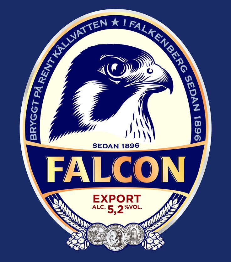 Illustration for a beer label Falcon