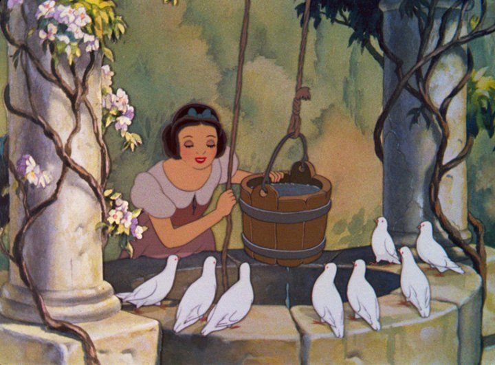 """Make a wish into the well that's all you have to do. And if you hear it echoing, your wish will soon come true."" Snow White:"