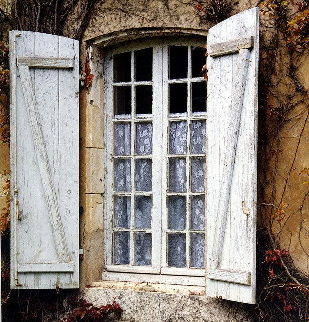 shuttered window.. chateau de didonne