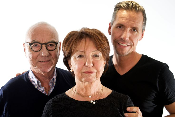 Marcel Michels (links) mit seinen Eltern im Oktober 2016