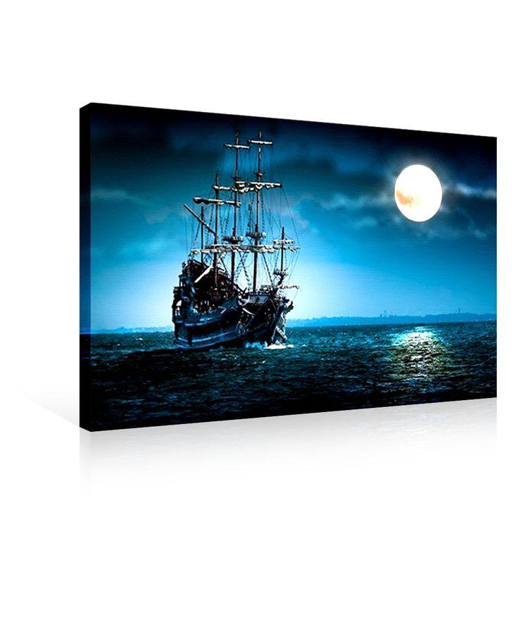 Ledli Kanvas Tablo (Dolunay) 50 x 70 cm.