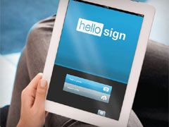 Sign documents online with HelloSign