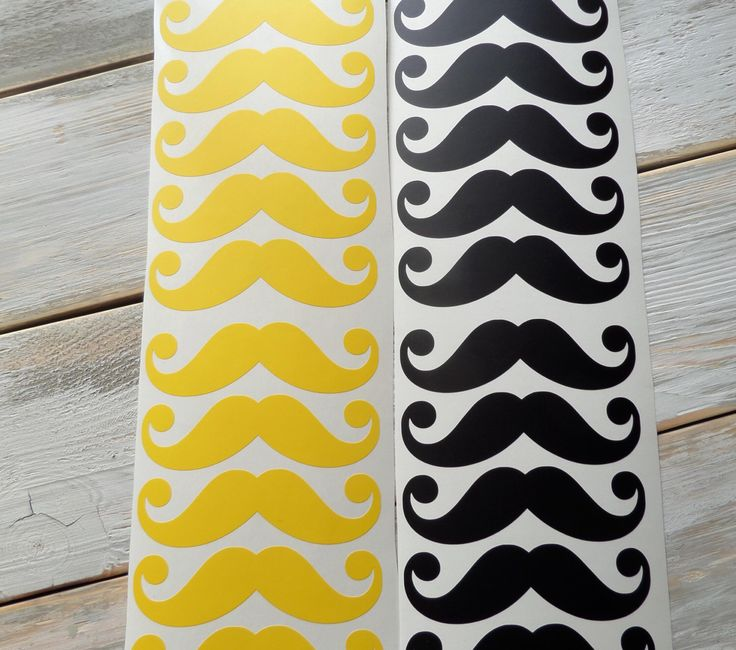 24 vinyl mustache stickers, mustache party decorations, cup decals, moustache decorations, mustache labels by PolkaDotssandMore on Etsy https://www.etsy.com/listing/240956502/24-vinyl-mustache-stickers-mustache