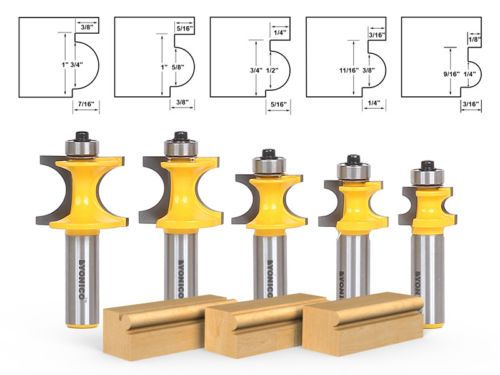 Yonico 13170 Round Over Edging Router Bit with 1-1//4-Inch Radius 1//2-Inch Shank