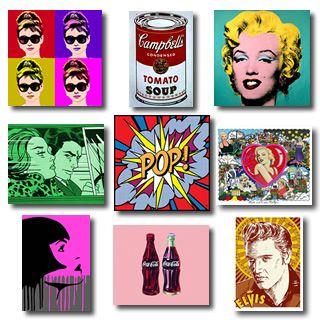 Cuadros Pop Art modernos, ilustraciones online y lienzos decorativos.