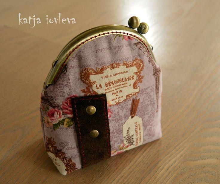 "Cosmetic bag - Makeup bag  ""Paris"" by kiquilt on Etsy"