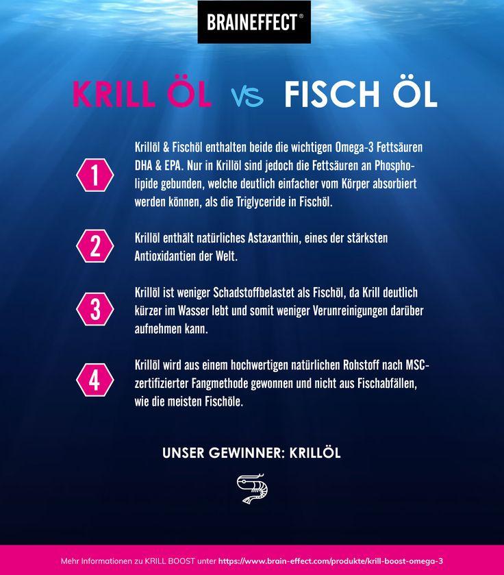 Krill Öl vs. Fisch Öl - Omega 3 - Erfahre mehr auf BRAINEFFECT