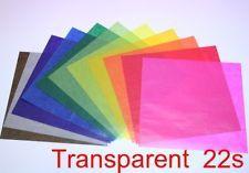 ORIGAMI Paper Transparent Paper 22 Sheets (11 color)