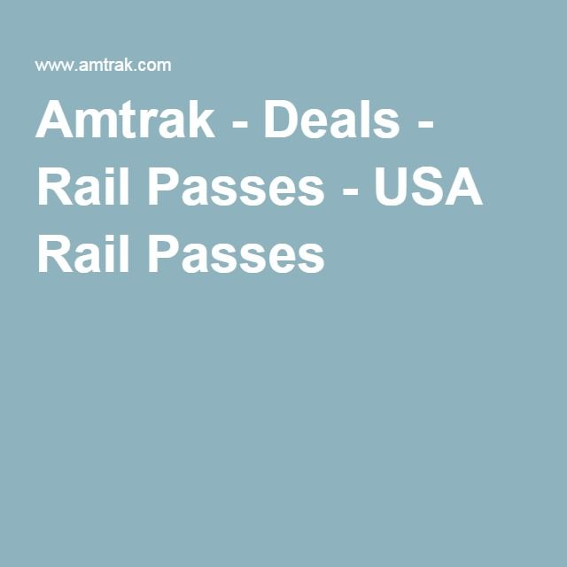 Amtrak - Deals - Rail Passes - USA Rail Passes 15,30,or 45 days