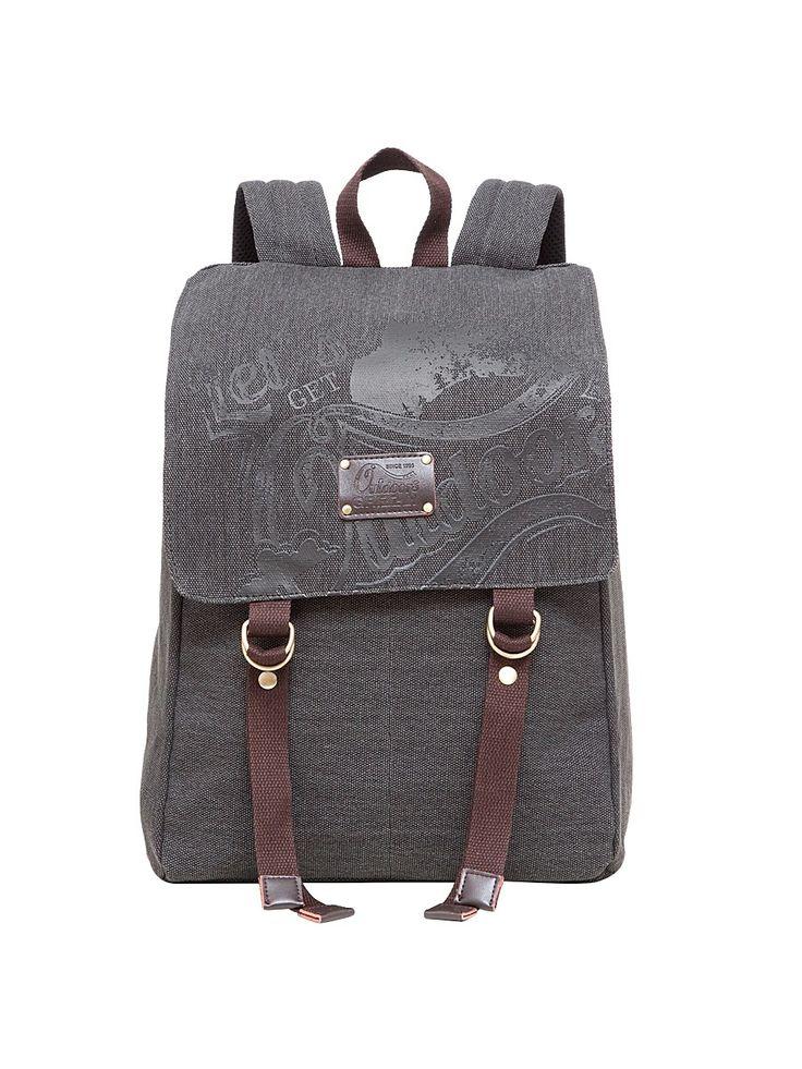 <b>Рюкзак Grizzly</b>. <b>Цвет</b> серый, коричневый.   школа   <b>Рюкзак</b>, Лямки ...