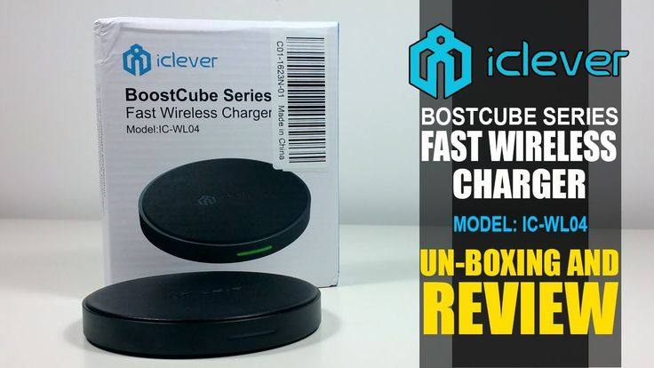 iClever Fast Wireless Charger Model: IC-WL04 Unboxing And Review