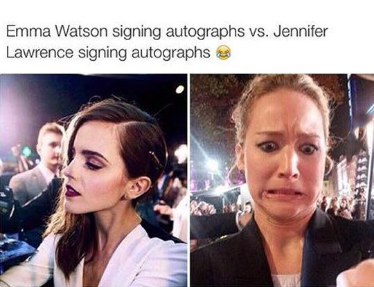 Love them both although I relate much better to Emma Watson