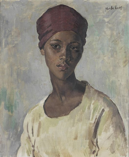 Neville Lewis Portrait of a young Malay girl. South African, 1895-1972