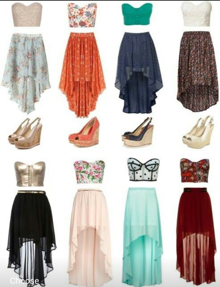 crop tops high low skirts outfits2 high