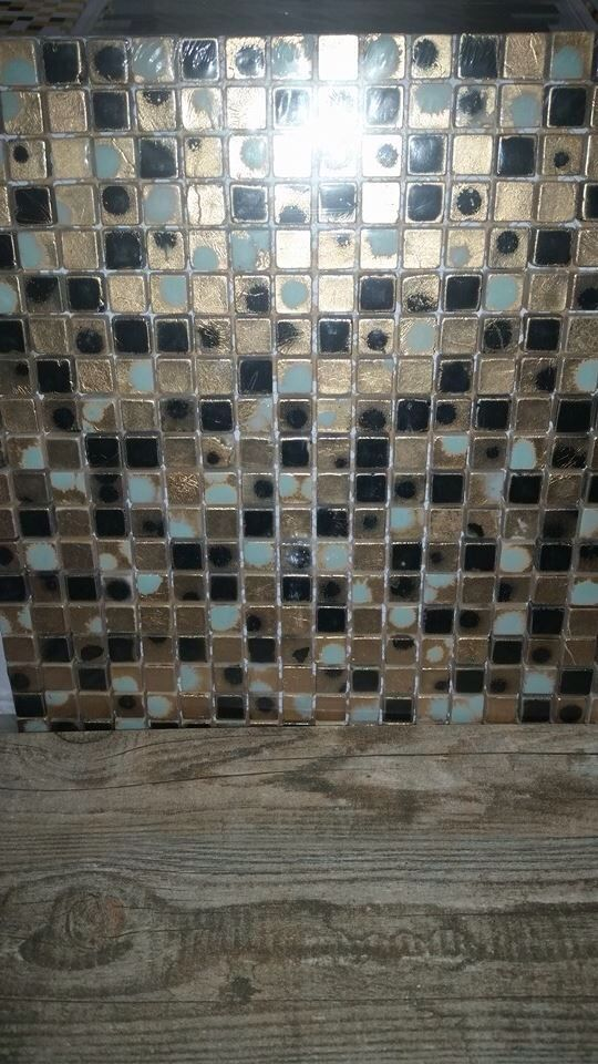 Too busy with black grout as a backsplash with black ... on Backsplash With Black Granite  id=97479
