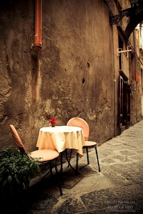| ♕ | Dinner For Two - Sorrento, Italy | by © Scott Newman    How romantic.
