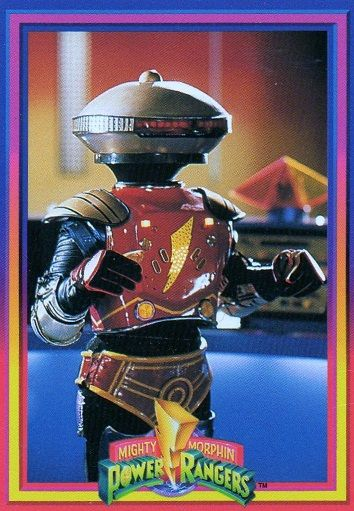"""Alpha 5 from the Might Morphin' Power Rangers. He's sorta annoying, but if he didn't talk, he'd be freaking adorable. His character was created for the American version of the show. Where would the Rangers be without his worrisome """"Ai Yie Yie!""""s?"""