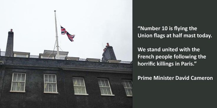 Number 10 is flying the Union flags at half mast today!