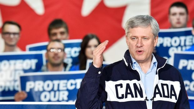Conservative Leader Stephen Harper has 'flagrantly crossed the line' with his campaign tactics, says a group of academics in an open letter.