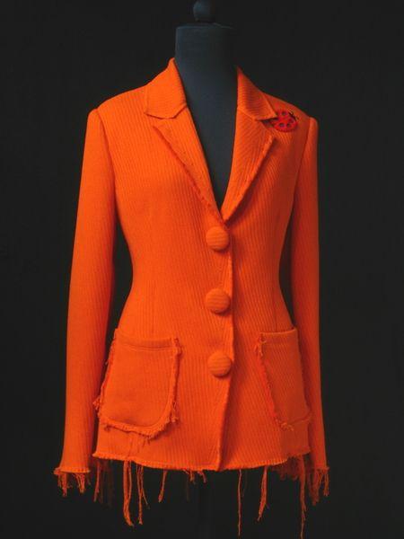 Blazer - STRICK-SAKKO***unikat(Haute Couture) - ein Designerstück von raboti bei DaWanda