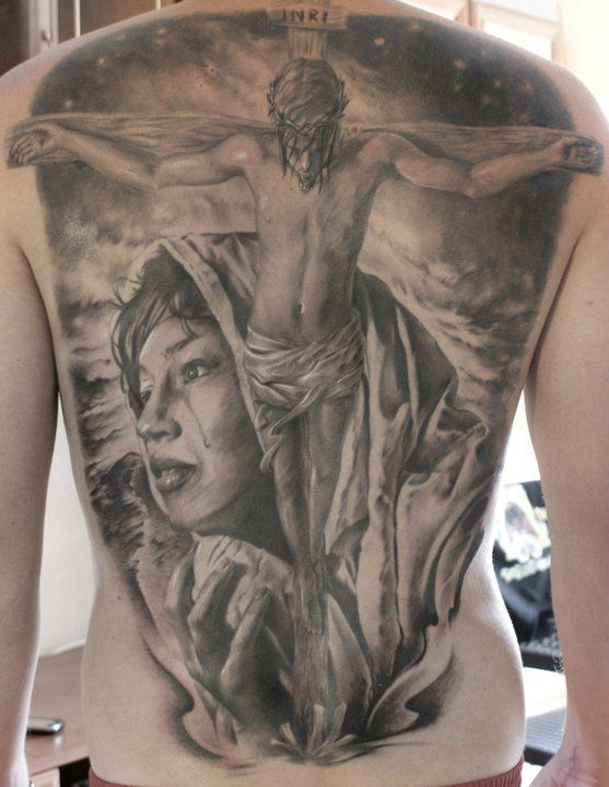 jesus back piece tattoo - Pesquisa do Google
