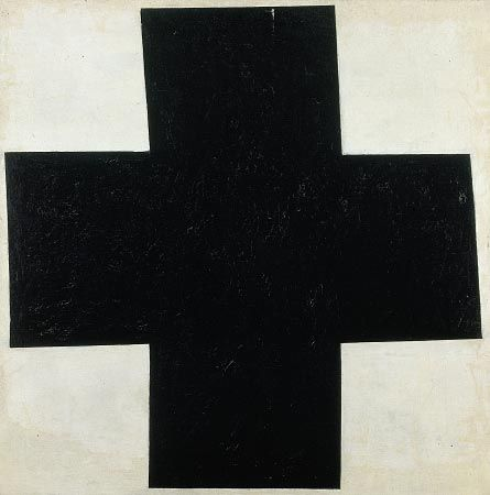 "whevva: "" Kasimir Malevitch ""Black Cross"", oil on canvas, 80 x 79.5 cm, 1915 """