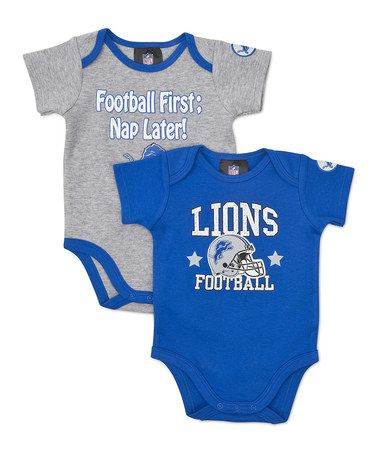 Take a look at this Blue & Silver Detroit Lions Bodysuit Set - Infant by NFL on @zulily today!