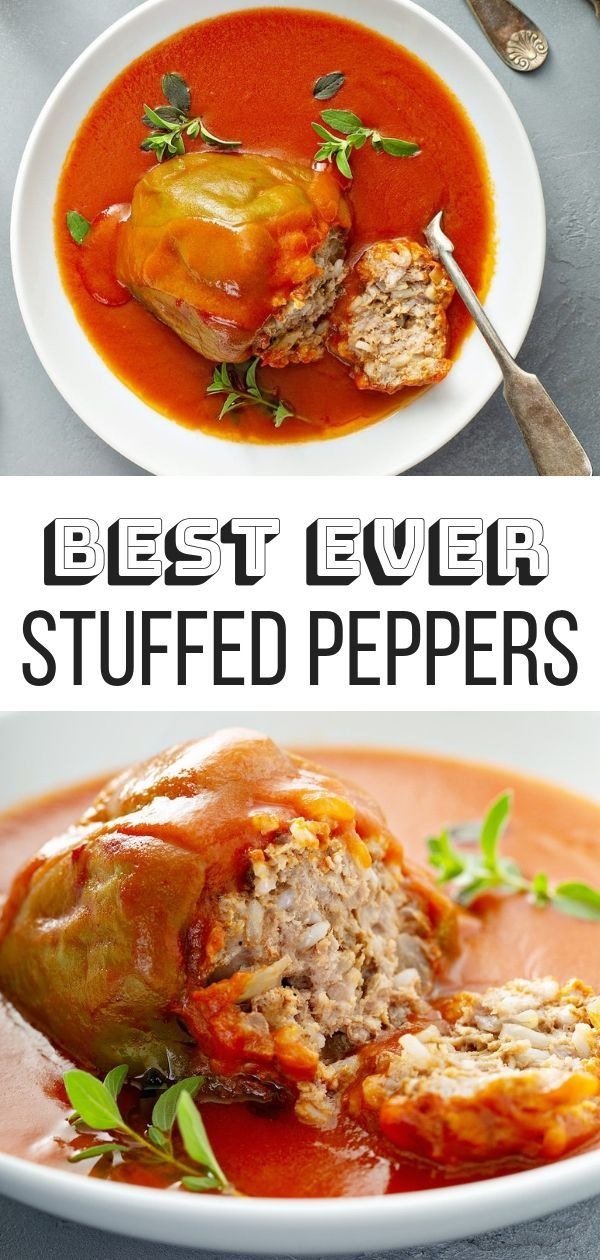 Best Easy Stuffed Peppers Recipe My Mom S Never Fail Recipe For Stuffed Peppers This Is A Savory Stuffed Peppers Peppers Recipes Easy Stuffed Pepper Recipe