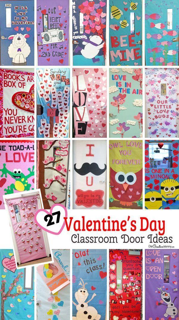 27 creative classroom door decorations for valentine s day rh pinterest com