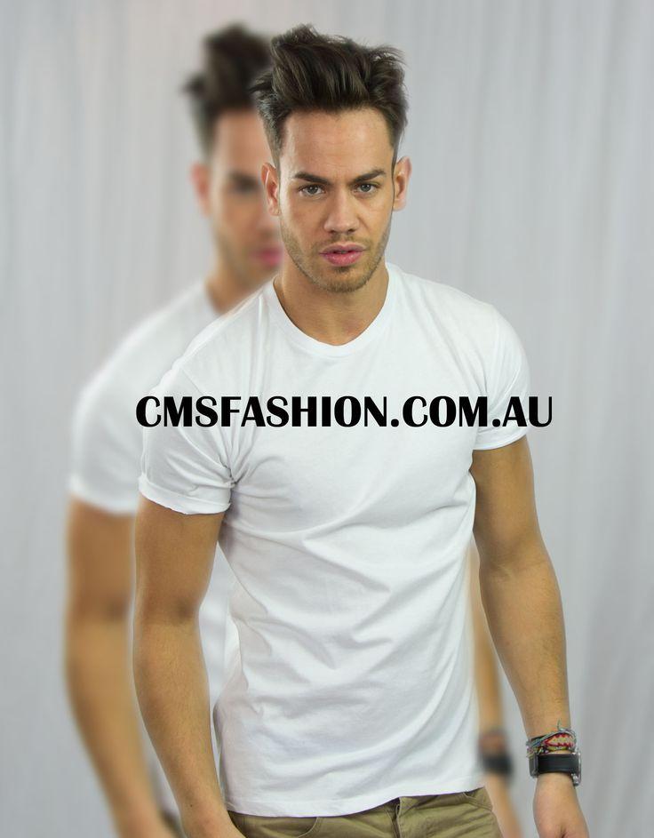 Basics - round neck tee #mensbasics #basictshirts #tshirts #mensfashion #menswear #simplestyle #white  www.cmsfashion.com.au
