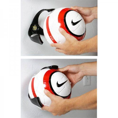 """Soccer Ball Claw (Black) (7""""H x 8""""W x 6.5""""D) by K Concepts. $19.99. Size: 7""""H x 8""""W x 6.5""""D. Color: Black. The Ball Claw Wall Mount Organizer by K Concepts is a quick and easy way to organize soccer balls, while keeping them in easy reach so you can grab your ball and go! This ball holder is perfect for any garage, basement, or kid's bedroom. It also will help preserve the life of your soccer balls, while displaying them in a cool way. Made from ABS plastic. Assembly lev..."""