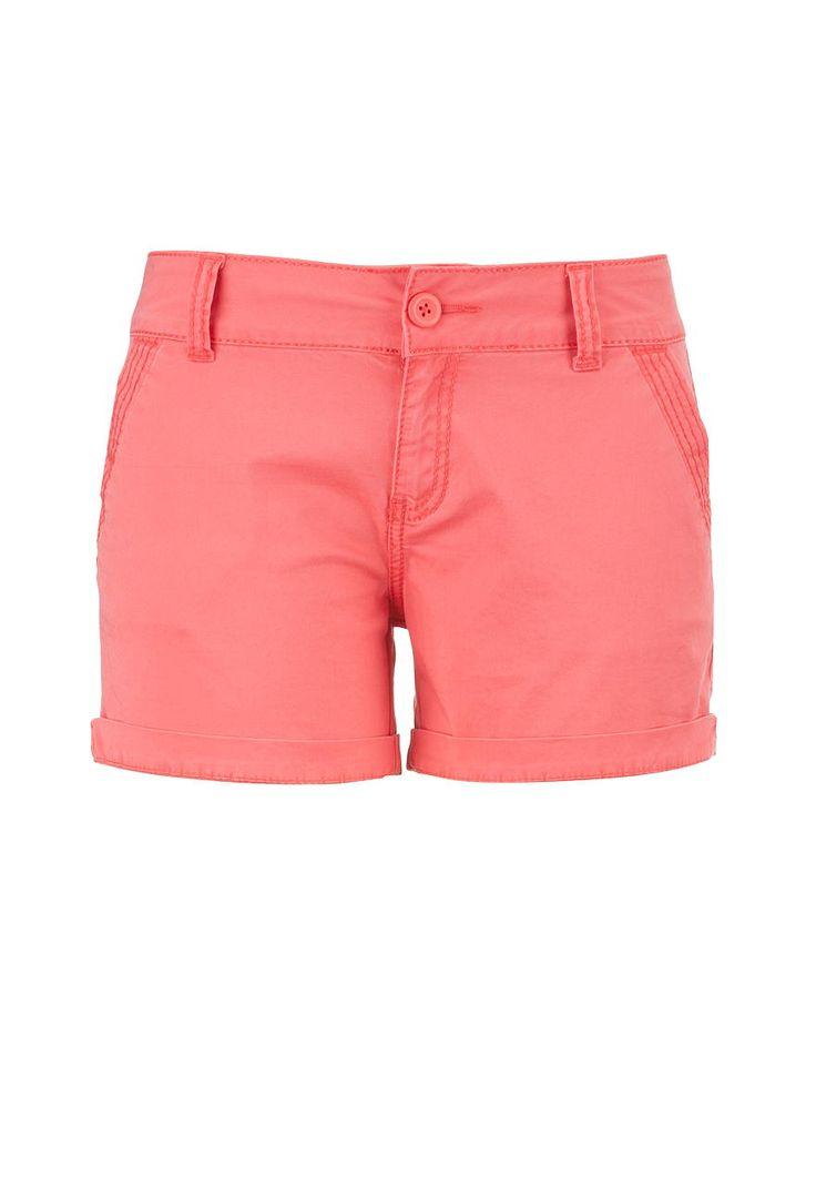 coral chino shorts