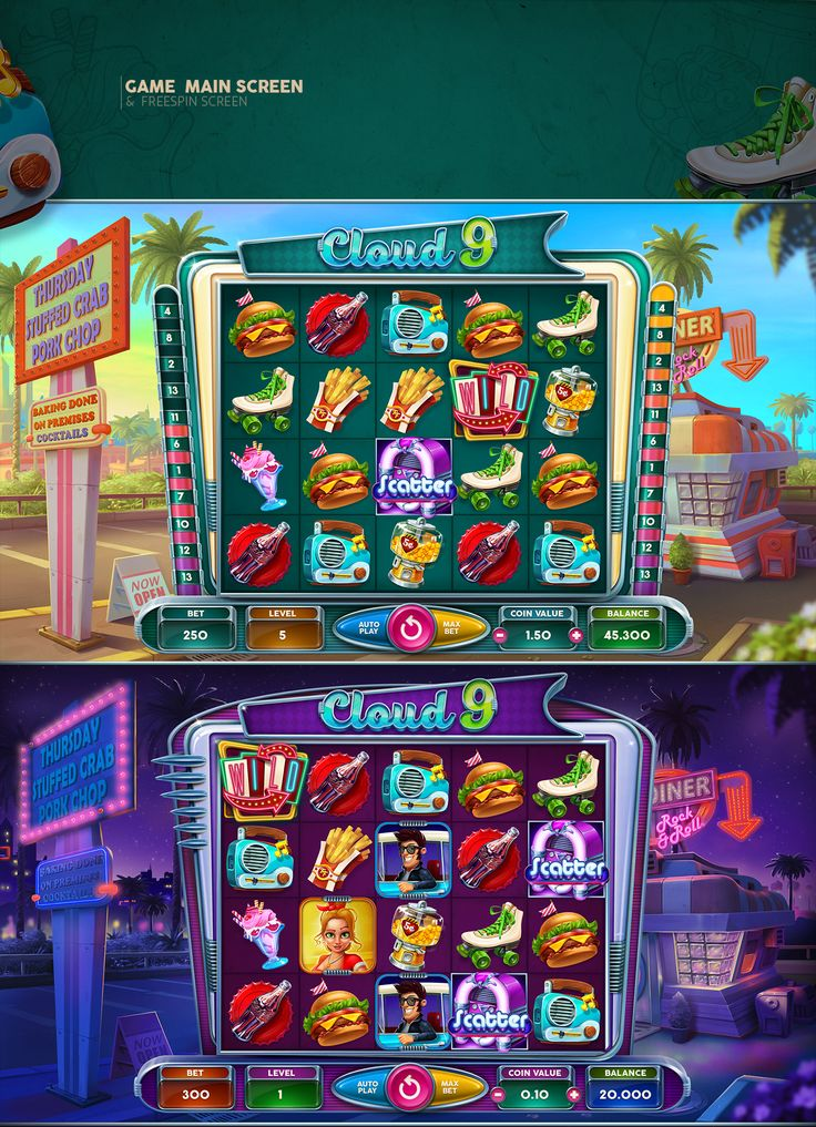 Cloud 9 Slot Game on Behance Slots games, Game