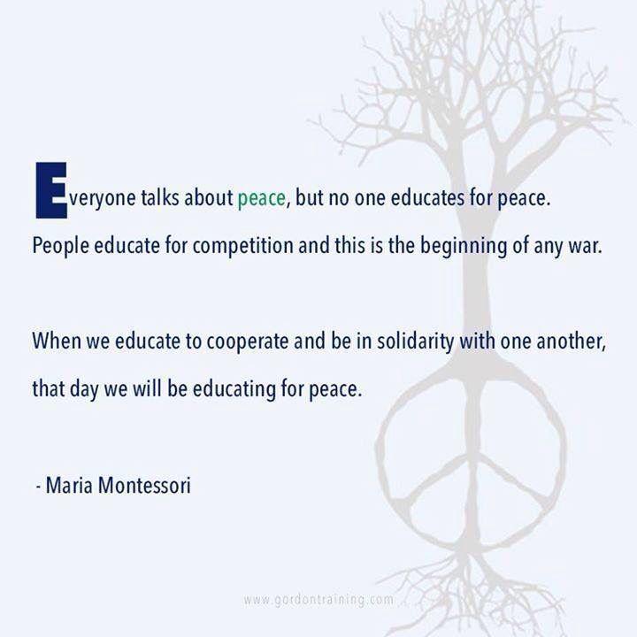 Teach Peace Quotes: Best 25+ Maria Montessori Quotes Ideas On Pinterest