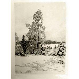 Etsning av Jean Fredrik Theodor Skoglund (1908-1948)