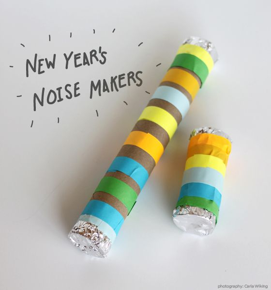 New Year's Eve Not-So-Noisy Noise Makers