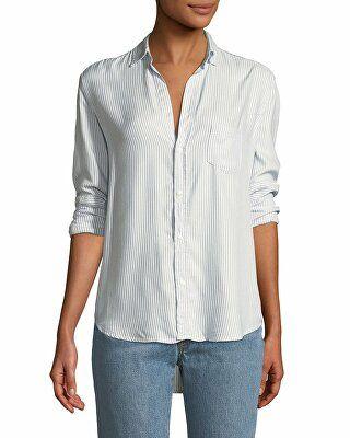 a64988252 Frank & Eileen Designer Eileen Striped Modal Long-Sleeve Button-Front Shirt
