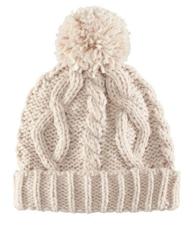 I love knitting hats - look at the big fat cables! Want to make this!