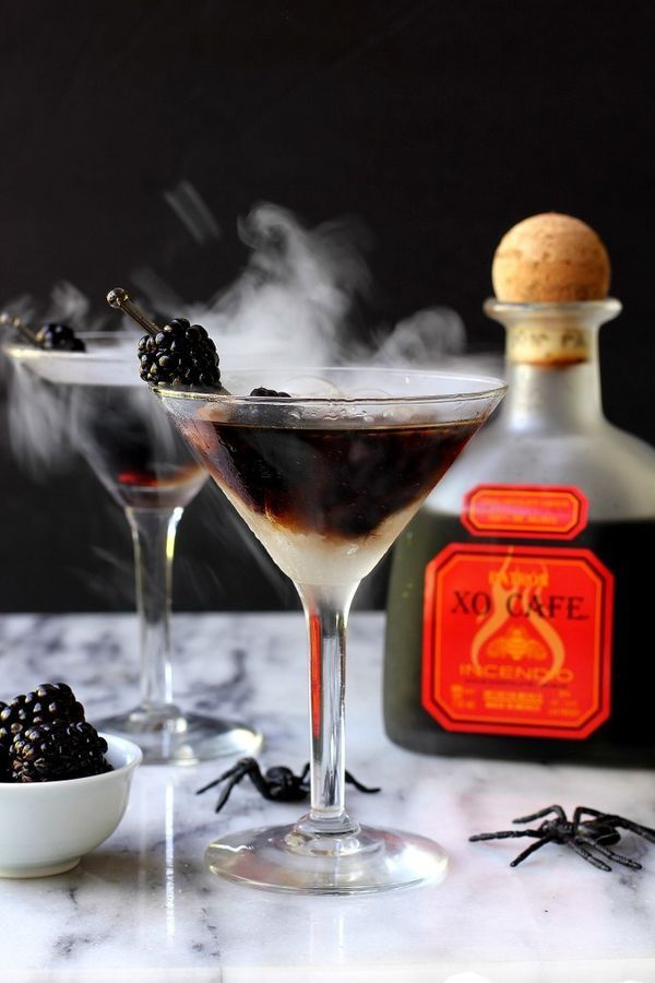Chocolate Chili Cocktail: Ever had chocolate tequila? If not, this is a tasty place to start. Mix Chili Chocolate Patron with lemon-lime soda for a drink that we promise isn't as strange as it sounds. Perfect for your Halloween party or a spooky fall wedding.