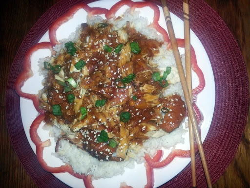 """Crock Pot Honey Sesame Chicken! 4.37 stars, 38 reviews. """"This recipe to be super good and really easy. Found on Pinterest but easier to follow on this app since the phone won't shut down every few minutes. I doubled the recipe for company, however, the basic recipe will feed four hungry people easy. The meat was tender with an oriental taste. Hope you enjoy as much as we did! ~(o.o)~"""" @allthecooks #recipe"""