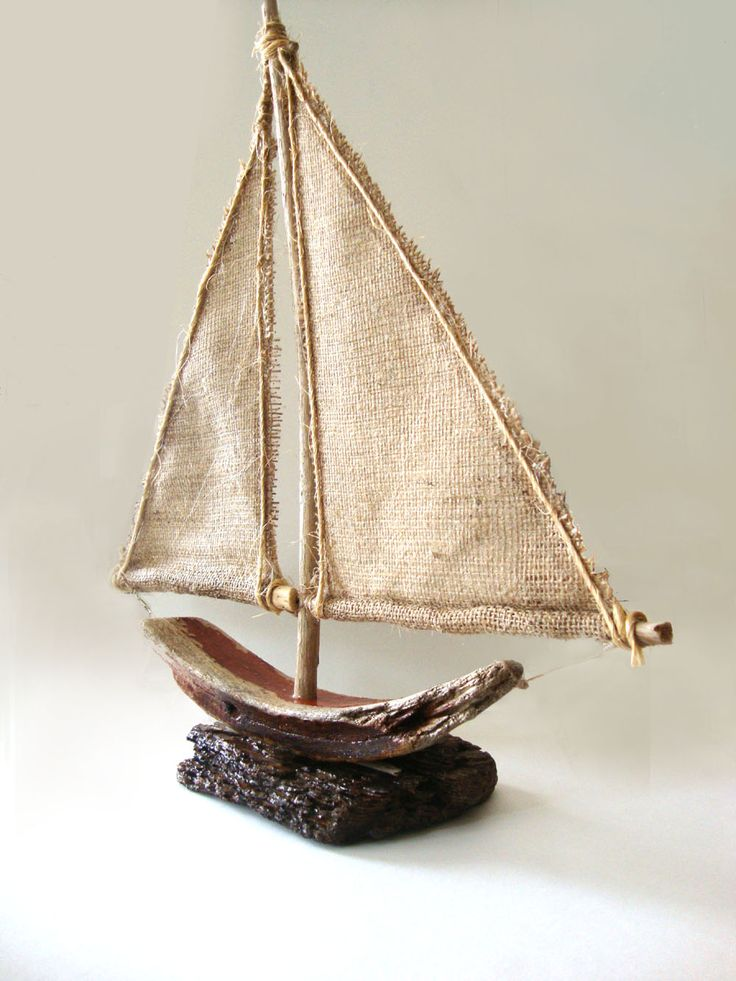 Handmade boat from seawood and fabric https://www.facebook.com/ToMagazakiHandmade/?fref=nf