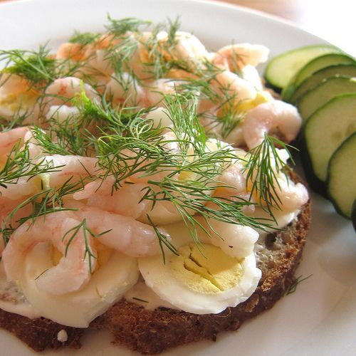Swedish style shrimp sandwich! Yum! The food that I had in Sweden was very good…