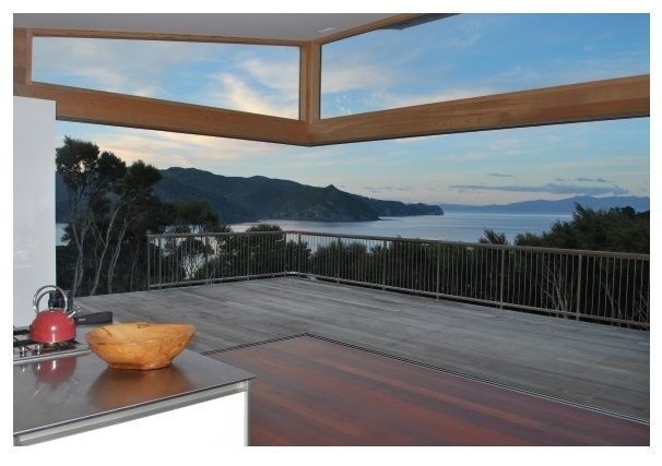 Blind Bay House, Great Barrier Island. An off-grid house with living spaces that filter nature rather than oppose it by David Loughlin.