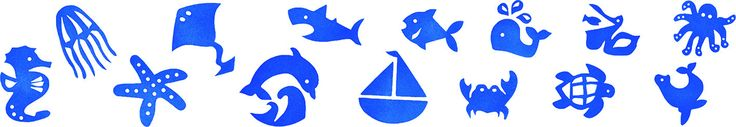 14pc Sea World Stamp Set from Spectrum Educational Ltd